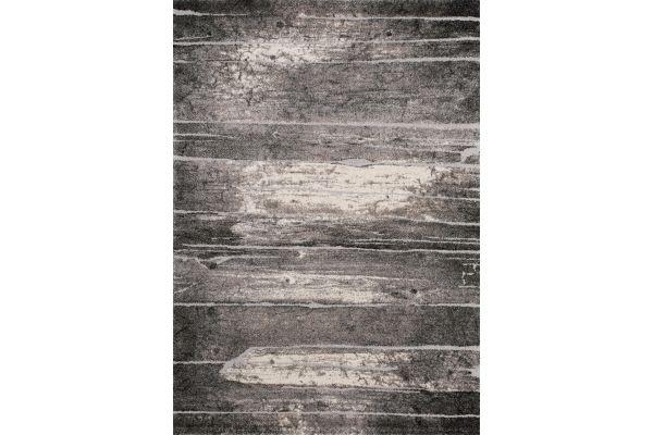 "Large image of Kalora Montana 5'3"" X 7'7"" Grey Cream Barn Door Rug - C846/1313 160230"