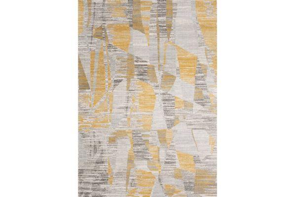"Large image of Kalora Harmony 7'10"" X 10'6"" Gray Yellow Rug - C882/0717 240320"