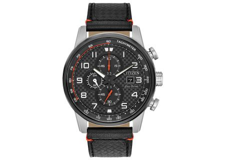 Citizen Eco-Drive Black Leather Primo Mens Watch - CA0681-03E