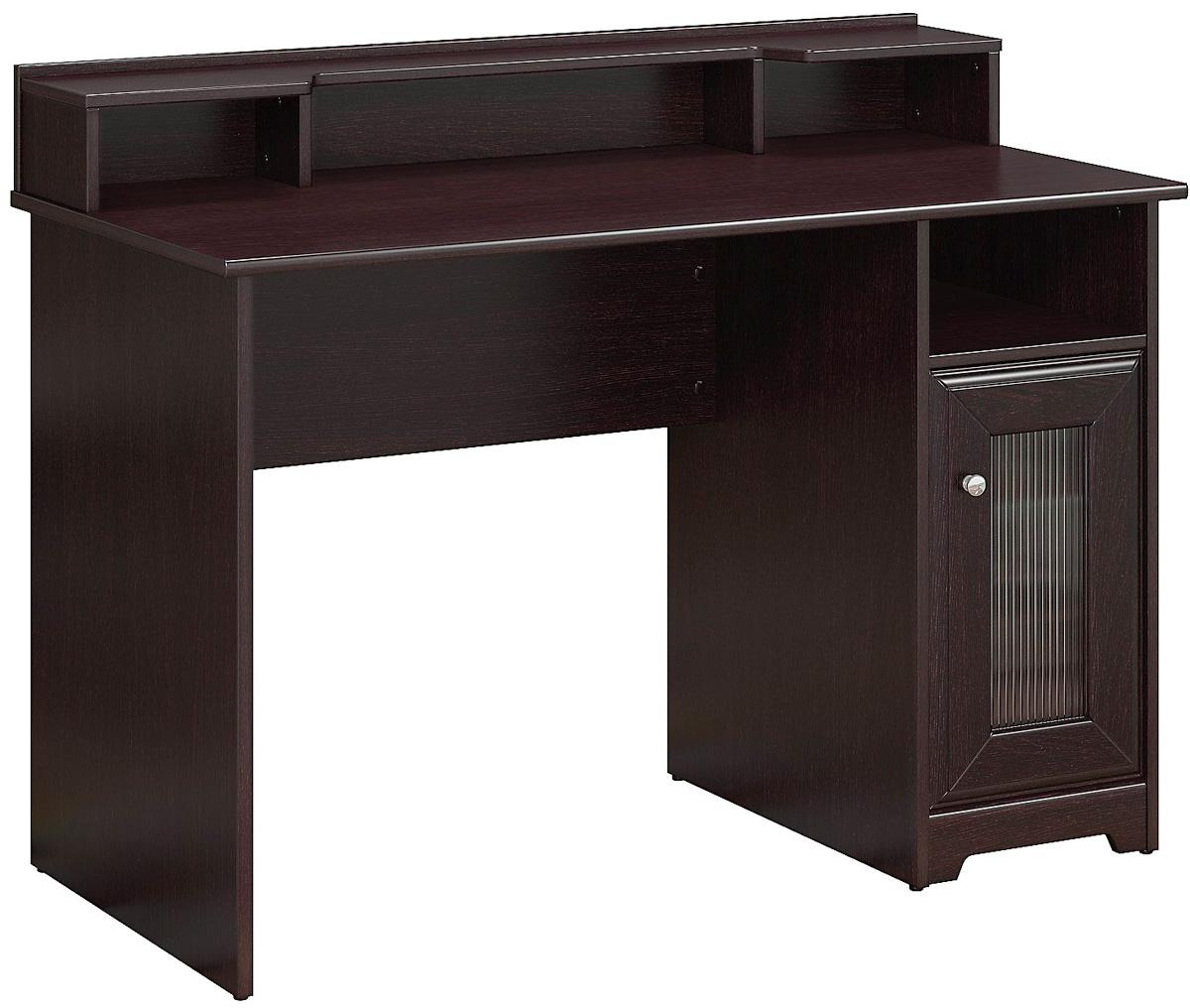 Bush Furniture Cabot Espresso Oak Single Pedestal Desk