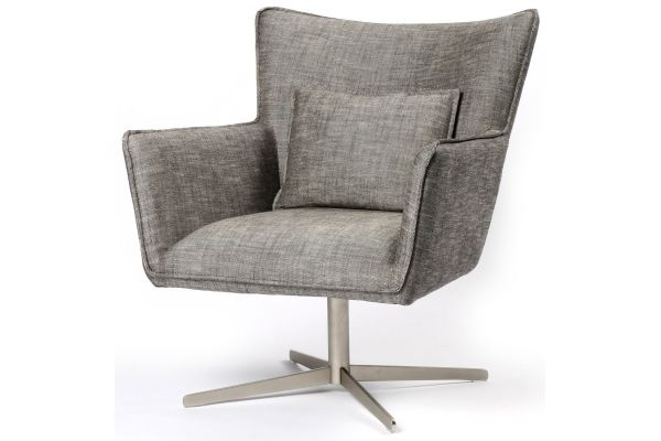 Large image of Four Hands Abbott Collection Jacob Raven Swivel Chair - CABT-11106-193