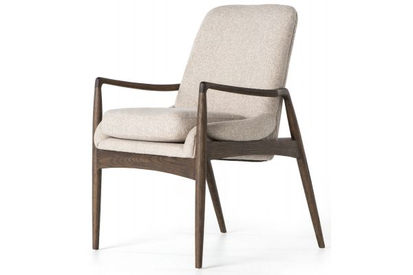 Large image of Four Hands Ashford Collection Light Camel Braden Dining Arm Chair - CASH-82J-400