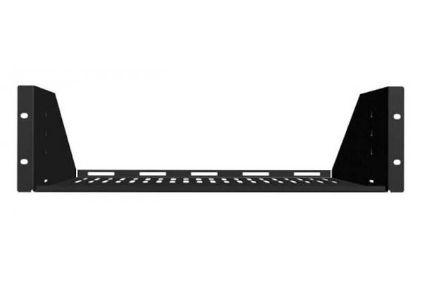 Large image of Sanus 3U Black Vented AV Shelf - CASH23-B1