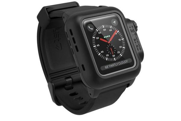 Large image of Catalyst Stealth Black Waterproof Case For 38mm Apple Watch Series 3 - CAT38WAT3BLK