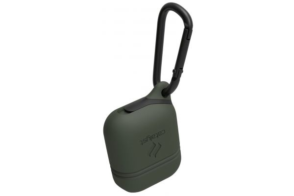 Large image of Catalyst Army Green Waterproof Case For AirPods - CATAPDGRN