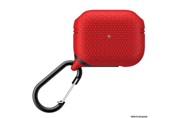 Large image of Catalyst Premium Edition Flame Red Waterproof AirPods Pro Case - CATAPDPROTEXRED