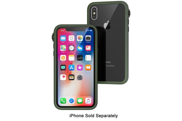 Large image of Catalyst Army Green Impact Protection Case For iPhone X - CATDRPHXGRN