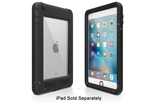 Large image of Catalyst Stealth Black Waterproof Case For iPad Mini 4 - CATIPDMI4BLK