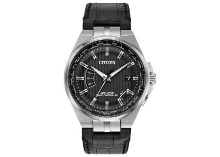 Citizen Eco-Drive Black World Perpetual A-T Mens Watch - CB0160-00E