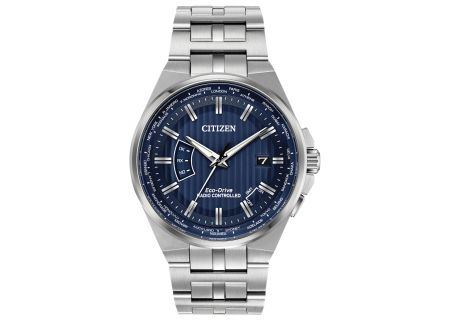 Citizen Eco-Drive Stainless Steel Perpetual A-T Mens Watch - CB0160-51L