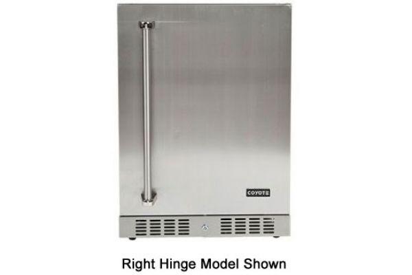 "Coyote 21"" Stainless Steel Outdoor Refrigerator - CBIR-L"