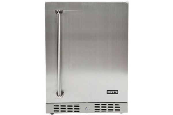 "Coyote 21"" Stainless Steel Outdoor Refrigerator - CBIR-R"