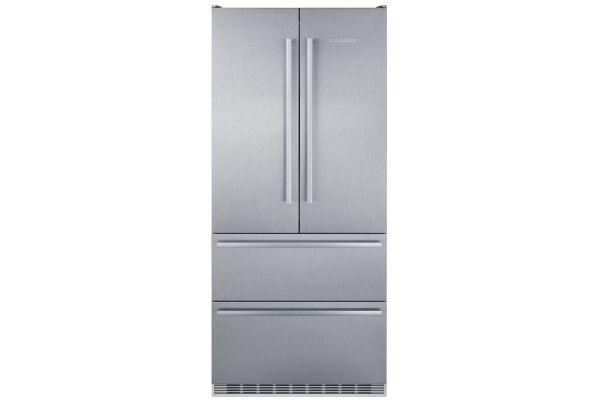 """Liebherr 36"""" Stainless Steel French Door Refrigerator - CBS-2082"""