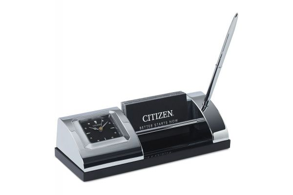 Large image of Citizen Silver-Tone Desk Clock - CC1003