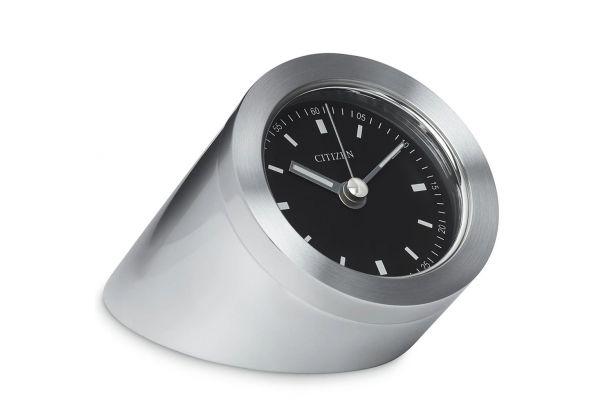 Large image of Citizen Silver-Tone Workplace Desk Clock - CC1006