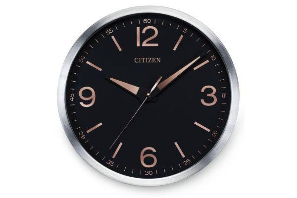 Citizen Gallery Black Circular Wall Clock - CC2002