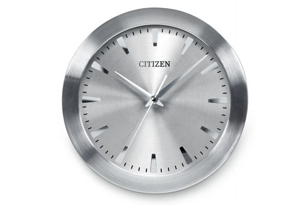 Large image of Citizen Gallery Silver-Tone Circular Wall Clock - CC2003