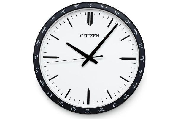 Large image of Citizen Gallery White Circular Wall Clock - CC2006