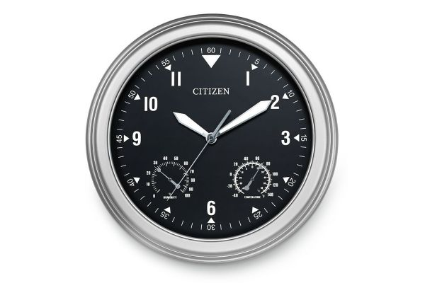 Citizen Outdoor Silver-Tone Wall Clock - CC2017
