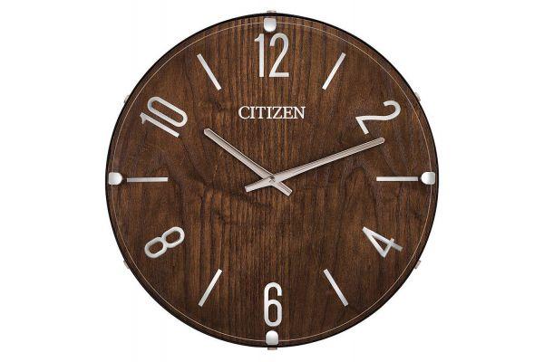 Large image of Citizen Gallery Dark Wood Circular Wall Clock - CC2021