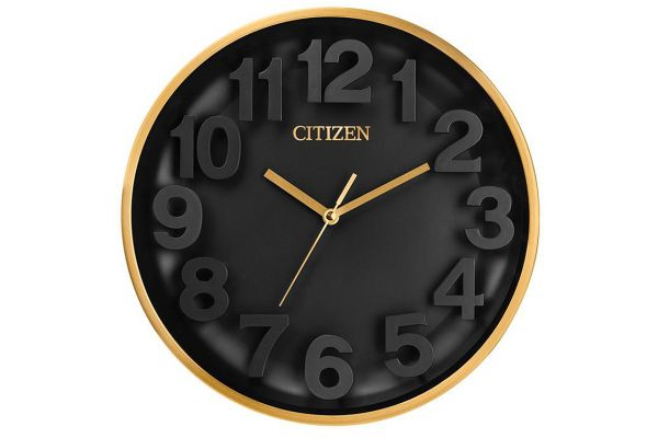 Citizen Gallery Black Circular Wall Clock - CC2025