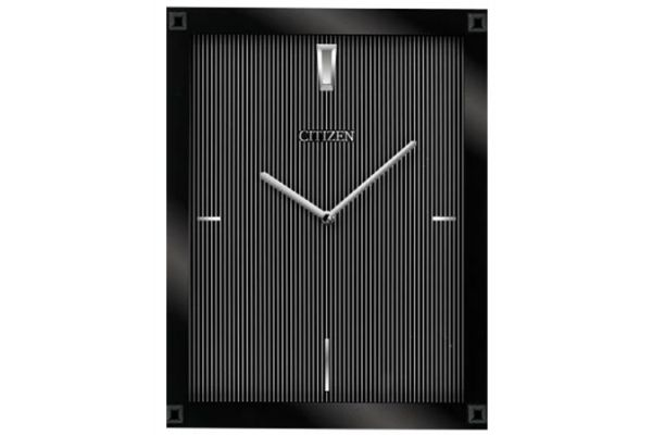 Large image of Citizen Gallery Black Rectangular Wall Clock - CC2027