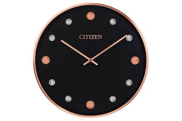 Large image of Citizen Gallery Black Circular Wall Clock - CC2028