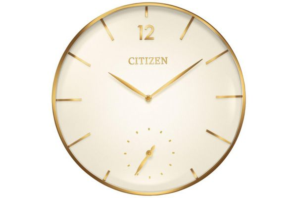 Large image of Citizen Gallery Gold-Tone Circular Wall Clock - CC2034