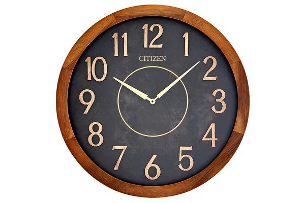 Large image of Citizen Outdoor Walnut Acacia Wood Wall Clock - CC2052
