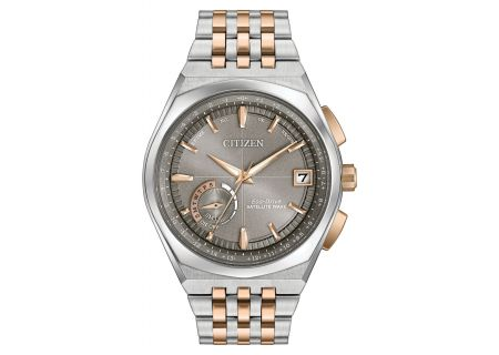 Citizen Eco-Drive Satellite Wave - World Time GPS Two-Tone Mens Watch - CC3026-51H