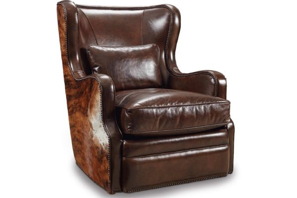 Large image of Hooker Furniture Living Room Wellington Swivel Club Chair - CC418-SW-086