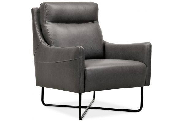 Large image of Hooker Furniture CC Collection Efron Club Chair With Black Metal Base - CC443-097