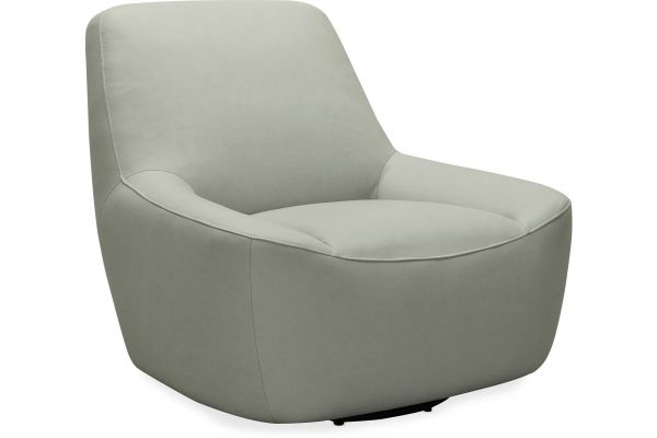 Large image of Hooker Furniture Living Room Maneuver Leather Swivel Chair - CC461-SW-095