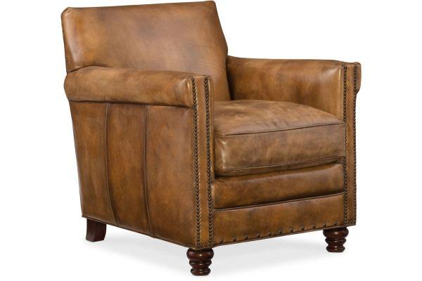 Large image of Hooker Furniture Living Room Natchez Brown Potter Club Chair - CC719-01-087