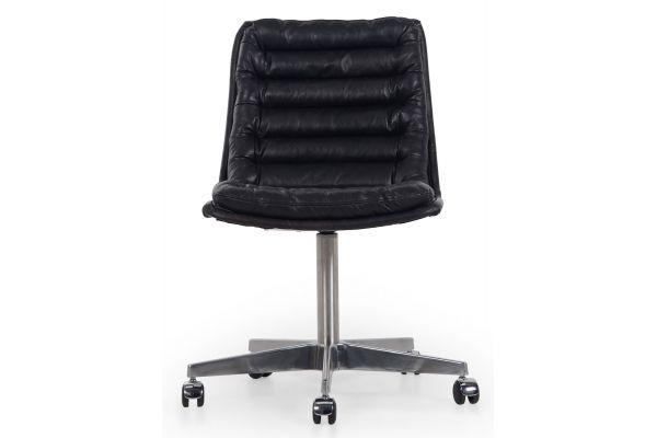 Large image of Four Hands Carnegie Collection Malibu Rider Black Desk Chair - CCAR-019-RBK