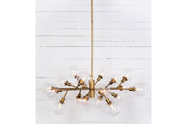 Four Hands Carnegie Collection Pellman Matte Brass Chandelier - CCAR-66
