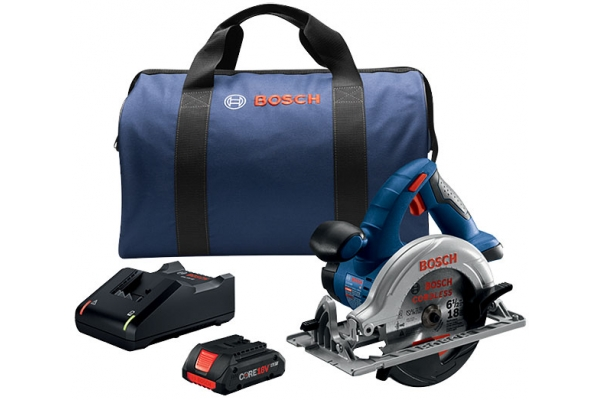 """Large image of Bosch Tools 18V 6-1/2"""" Circular Saw Kit With CORE18V 4.0 Ah Compact Battery - CCS180-B15"""