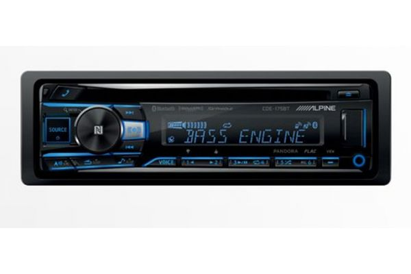 Large image of Alpine Single DIN Bluetooth Car Stereo Receiver - CDE-175BT