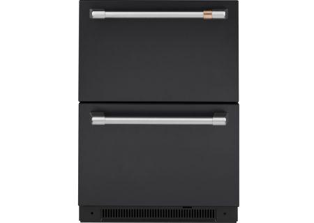 Cafe 5.7 Cu. Ft. Black Built-In Dual-Drawer Refrigerator - CDE06RP3ND1