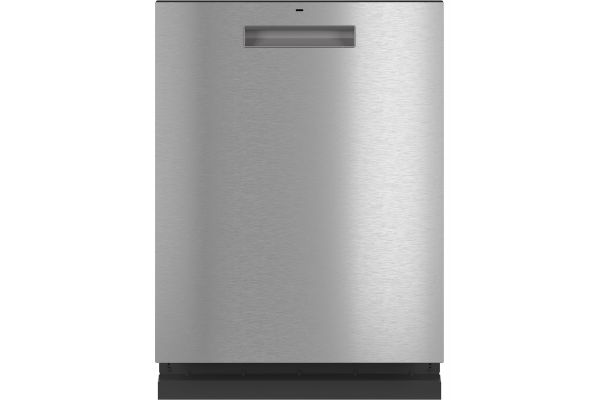 """Large image of Cafe 24"""" Platinum Glass Dishwasher With Hidden Controls - CDT805M5NS5"""