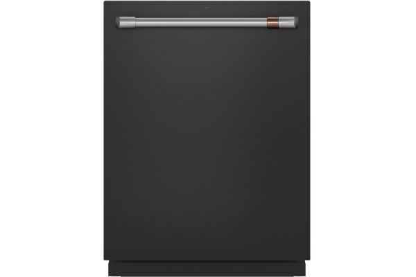"Large image of Cafe 24"" Matte Black Built-In Dishwasher - CDT845P3ND1"