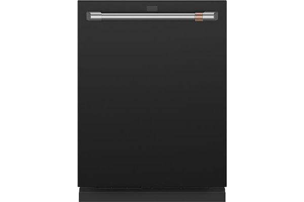 "Large image of Cafe 24"" Matte Black Built-In Dishwasher With Hidden Controls - CDT875P3ND1"