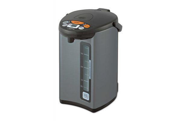 Large image of Zojirushi Silver Dark Brown Micom Water Boiler & Warmer - CDWCC40
