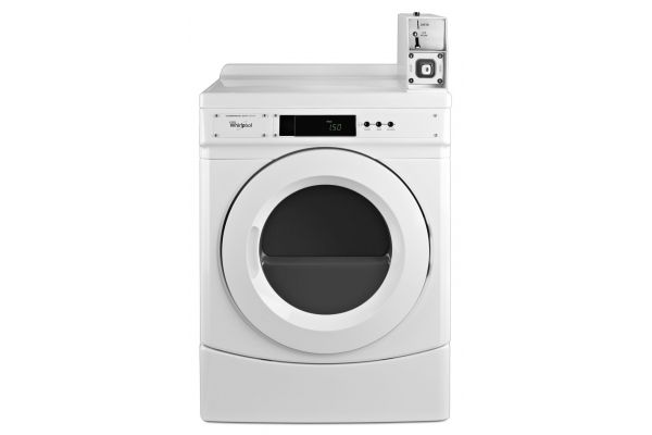"Whirlpool 27"" White Commercial Electric Front Load Dryer - CED9150GW"