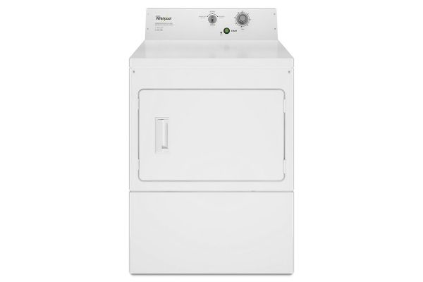Large image of Whirlpool White Commercial Electric Super-Capacity Dryer, Non-Coin - CEM2795JQ
