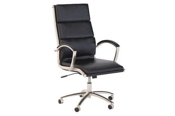 Large image of Bush Business Furniture Seating High Back Black Leather Executive Office Chair - CH1701BLL-03