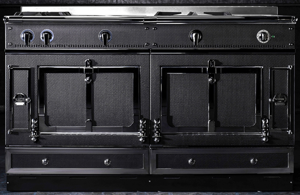 la cornue chateau 150 carbon fiber range ch5usk1crbn. Black Bedroom Furniture Sets. Home Design Ideas