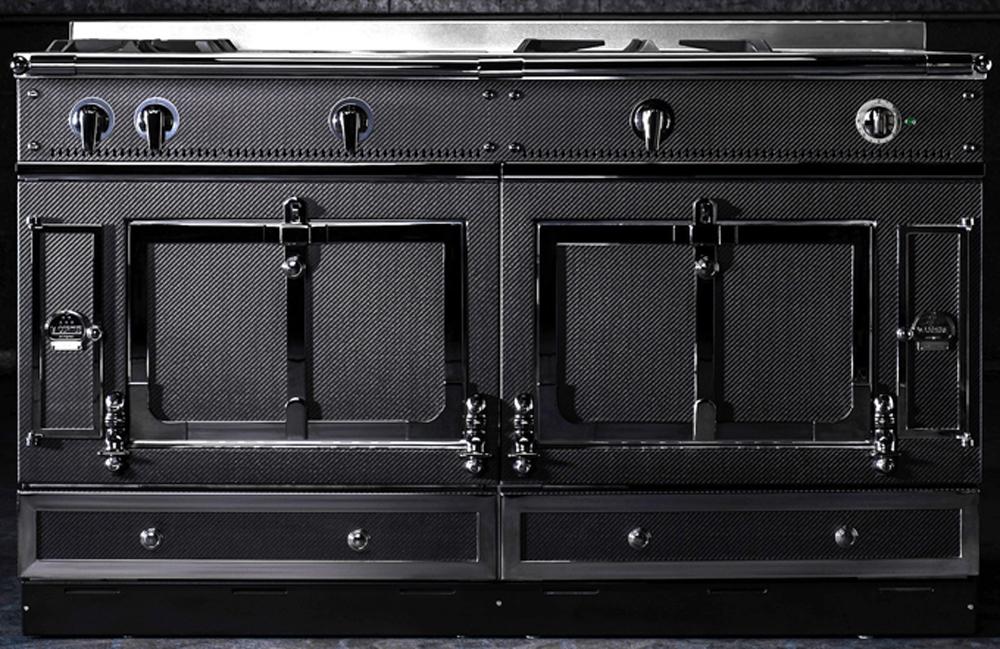 la cornue chateau 150 carbon fiber range ch5usk1crbn. Black Bedroom Furniture Sets. Home Design Ideas