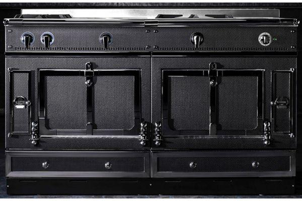 """Large image of La Cornue 60"""" Chateau 150 Matte Black Carbon Fiber Edition Dual Fuel Range - CH5USK1CRBN"""