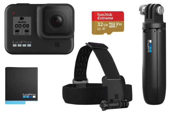Large image of GoPro HERO8 Black 4K Ultra HD Camera Special Bundle - CHDRB-801-XX